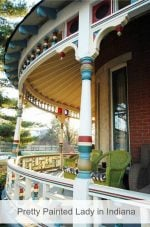 Victorian with Pretty Wraparound Porch in Indiana is All Fixed Up