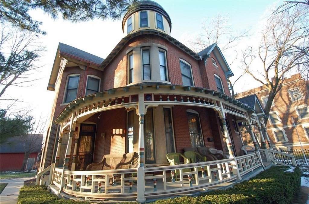 Victorian with Pretty Wraparound Porch in Indiana is All Fixed Up - 1226 Broadway St Indianapolis Indiana