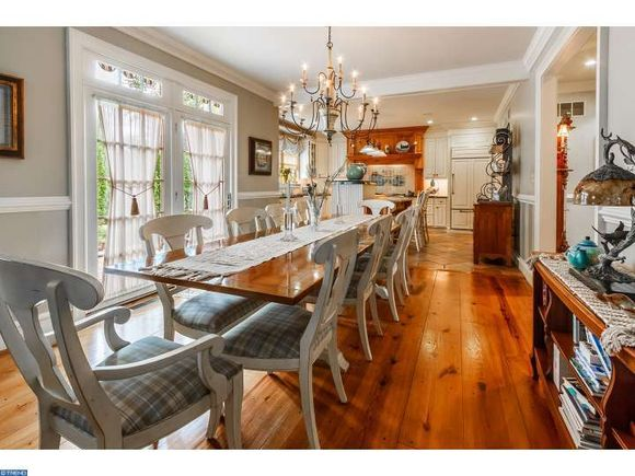 Historic home for sale in New Jersey has two dining rooms.