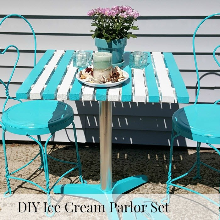 How to make an ice cream parlor table from scratch