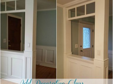 How To Add A Decorative Glass Window To A Fiberglass Door