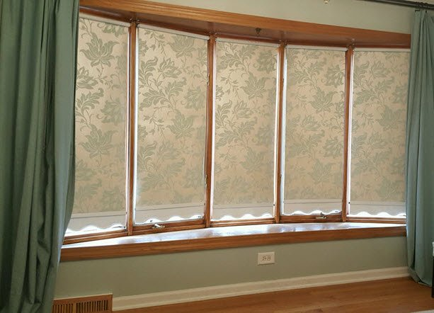 How To Design Beautiful Roller Shades with Wallpaper - Housekaboodle