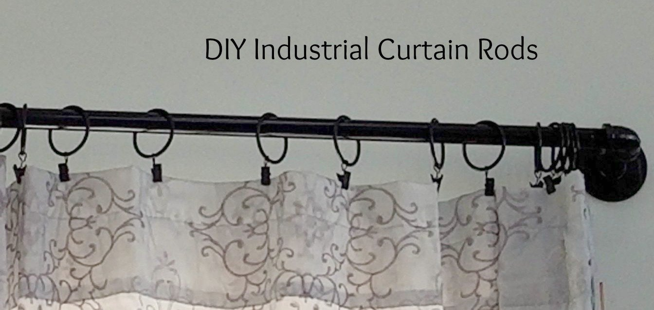 Beautiful retro vintage curtain rods and the perfect clips that glide like glass.