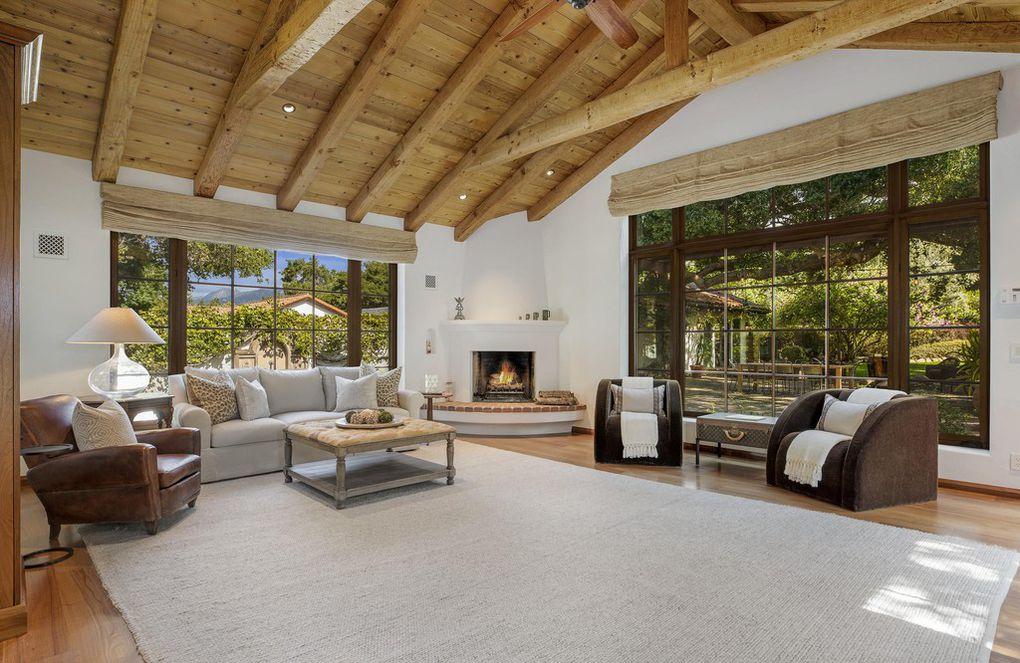 Inside of the lovely Jeff Bridges Montecito home