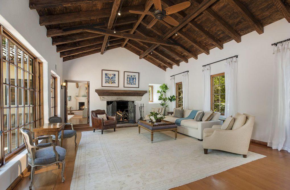 Living area - Jeff Bridges Monticeito Home on the market