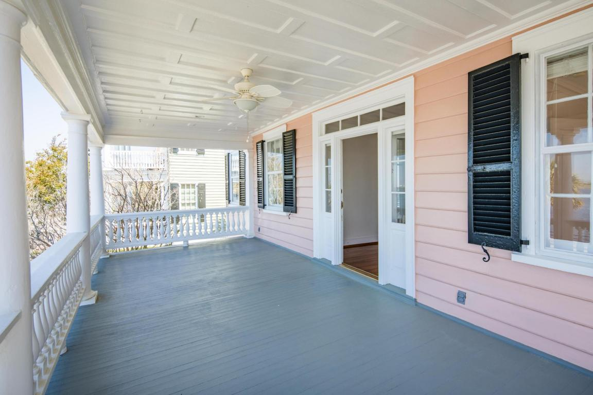 Inside the Pretty Pink Plantation House for sale 101 Murray Blvd Charleston SC - upper porch
