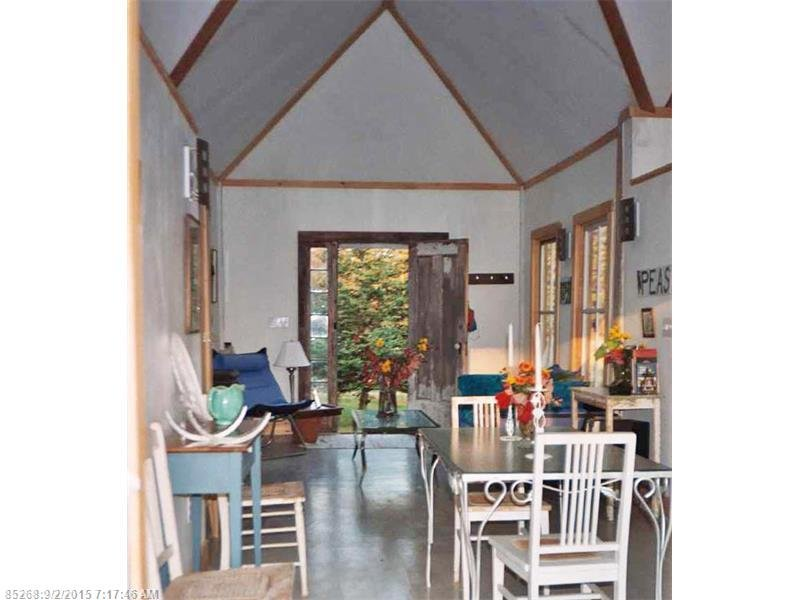 Inside tiny 790 squre foot shingled cottage for sale in Maine