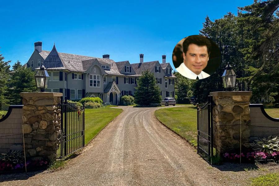 John Travolta Mansion In Maine On The Market Is A Fairtytale Home