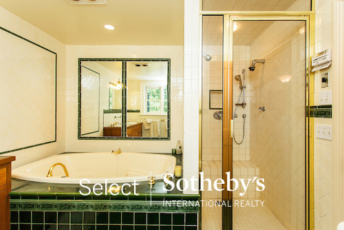 Jetted tub and shower Daley Rd Chatham NY property listed with Sotheby's