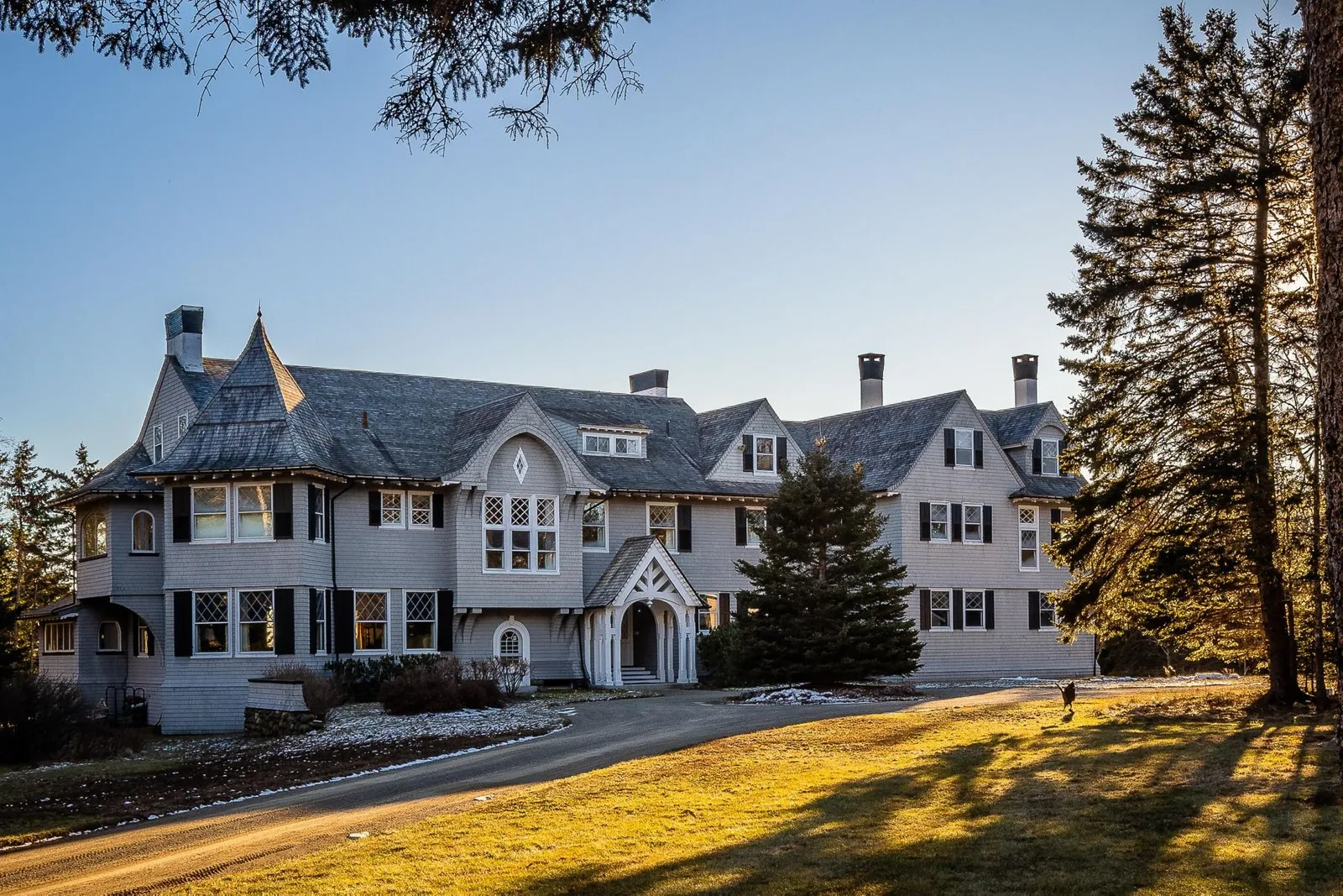 John Travolta Mansion in Maine for sale.
