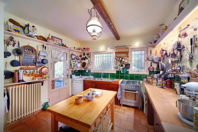 Julia Childs House For Rent in France - Kitchen