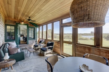 Julianne Moore Listing her Adorable Montauk Tiny House - Screened In Porch