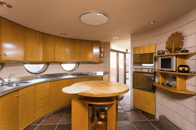 Kitchen in the last home Frank Lloyd Wright designed.2 jpg