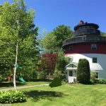 Lighthouse Style Home Has Curved Kitchen in Durham Maine