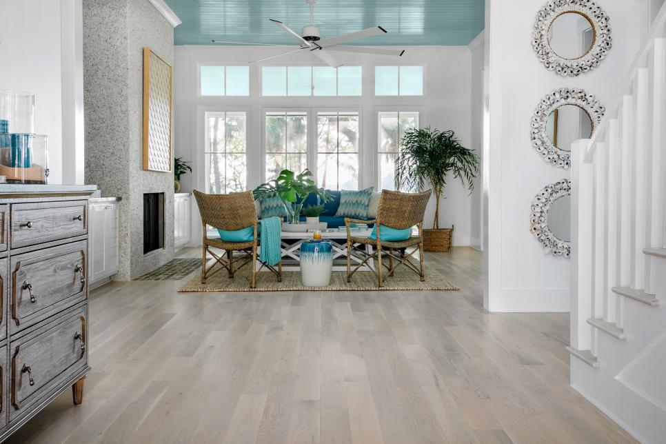 Light colored wood floors inside the hgtv dream home