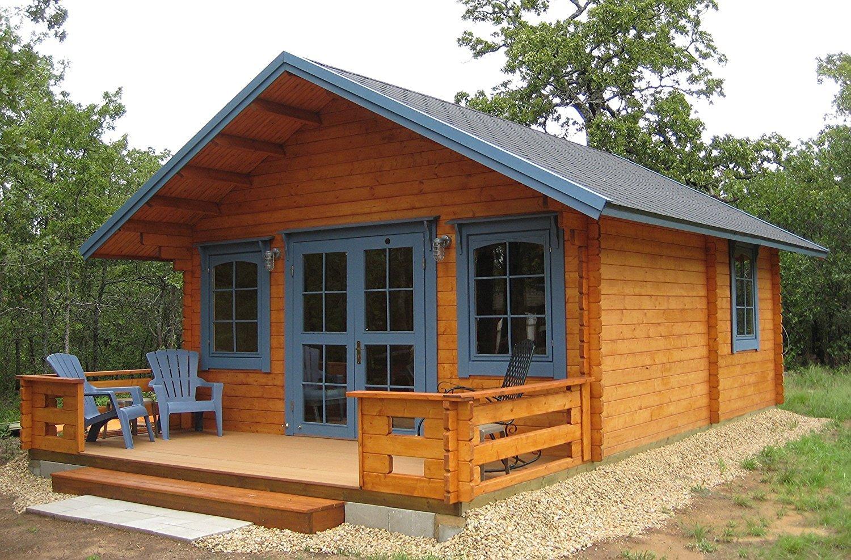 10 Tiny Houses on Amazon to Buy -Lillevilla Allwood Kit Cabin Getaway