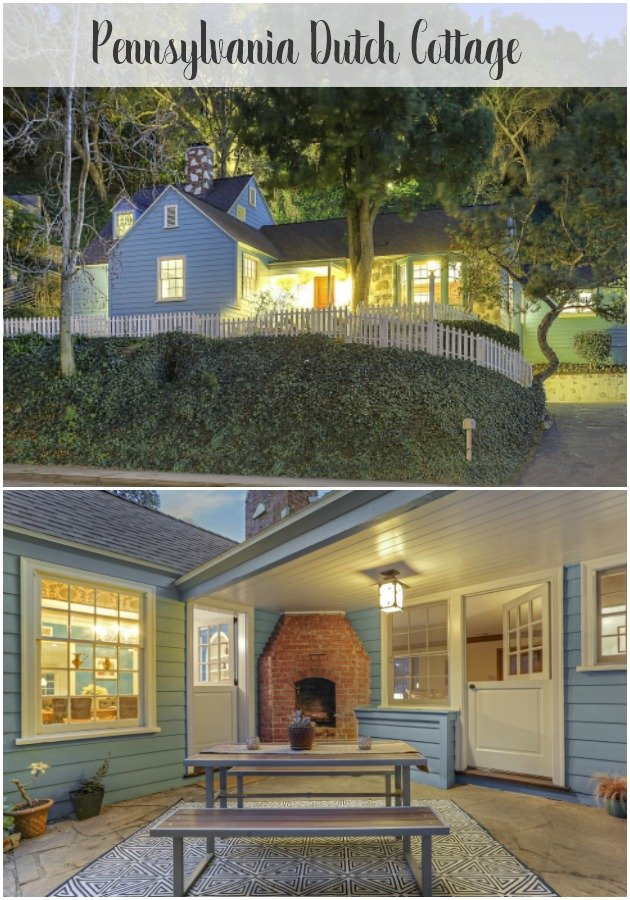 Lovable Pennsylvania Dutch Cottage by Gerard Colcord for sale in Glendale CA A rare home. It has dutch doors, multi-level patios, and custom built-ins.