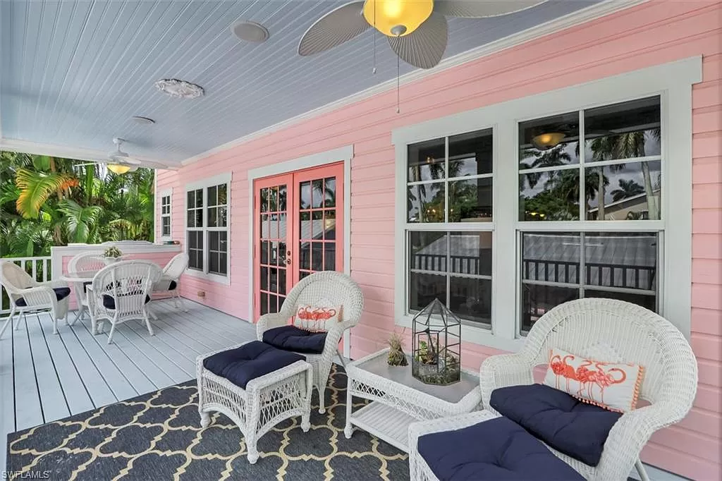 Lower deck of Naples FL house for sale.