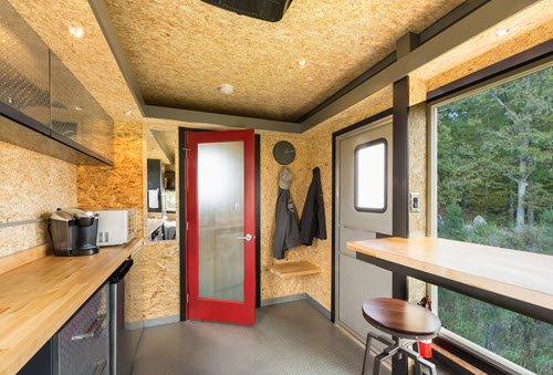 Man Cave On Wheels kitchen eating area