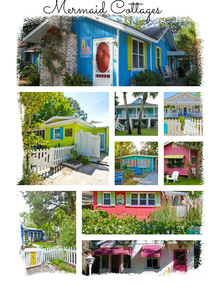 Mermaid Cottages on Tybee Island are the most adorable vacation rental cottages.
