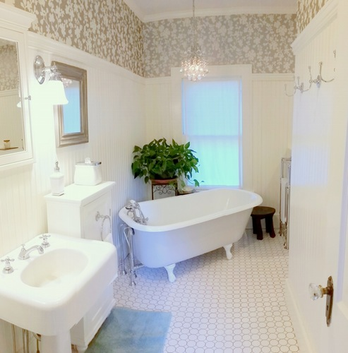 Master Bath with clawfoot tub