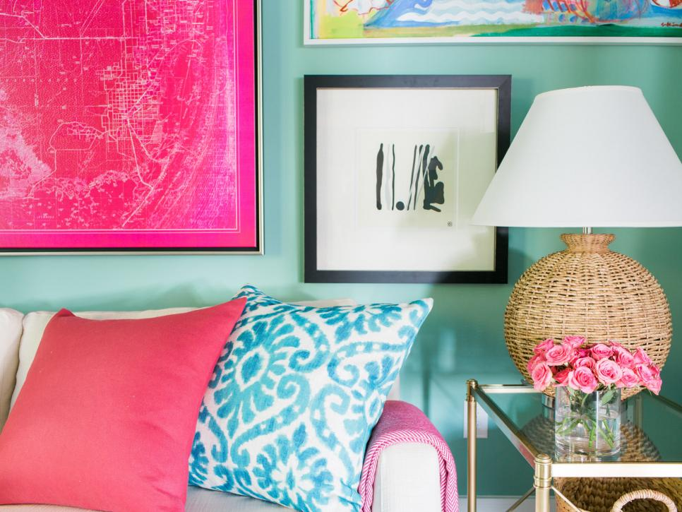 Media Room - HGTV Dream Home is drenched is beautiful beach house colors.