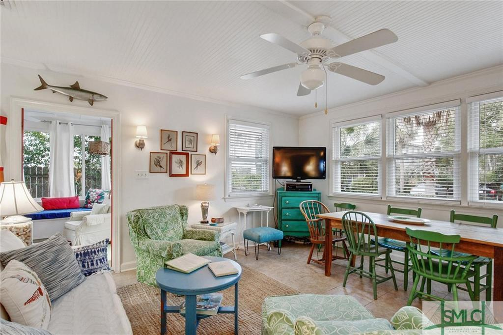 Living area - Tybee Island cottage on 2nd ave for sale