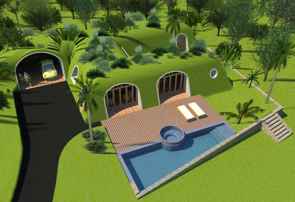 Green magic homes are whimsical hobbit houses for Modern hobbit house