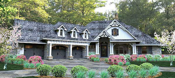 11 cottage house plans to love housekaboodle for Storybook craftsman house plans