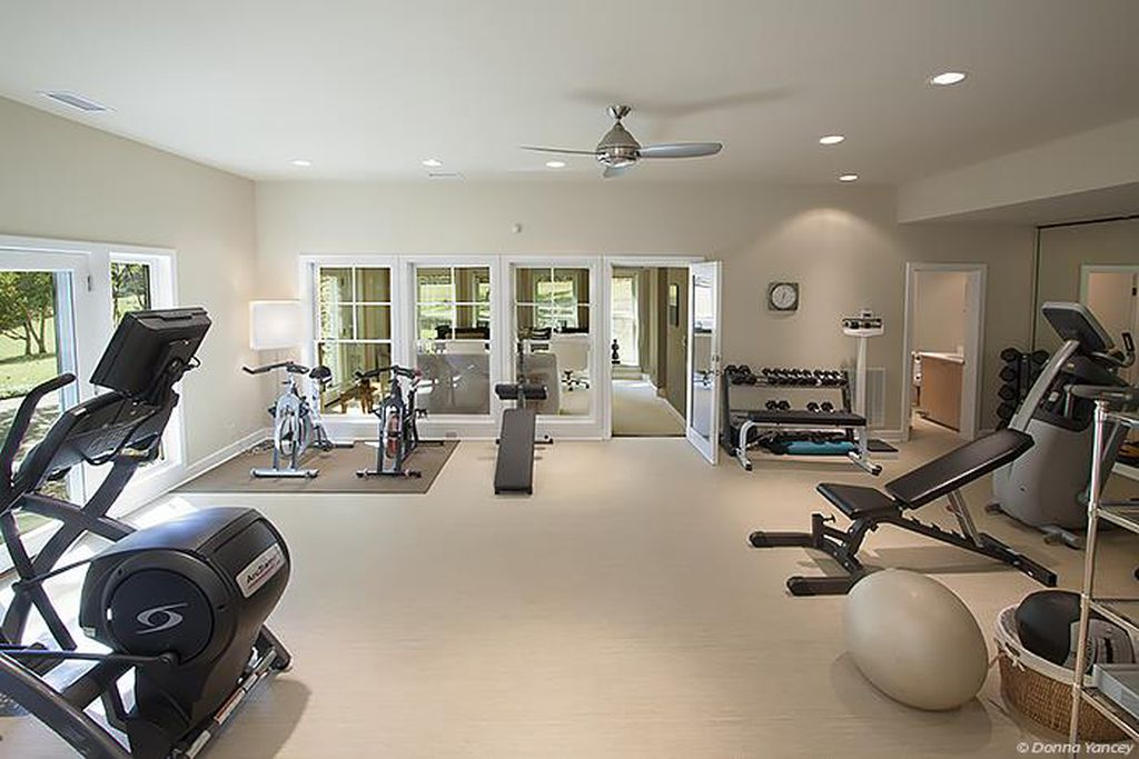 Nicole Kidman and Keith Urban Farmhouse for sale 2032 Old Hillsboro Rd Franklin Tennessee -exercise room