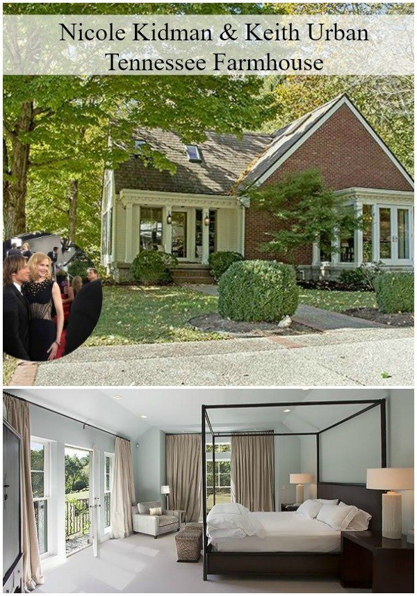 Nicole Kidman and Keith Urban Tennessee Farmhouse is serene with loads of windows and skylights. A lovely Farmhouse with a horse barn on 35 acres.
