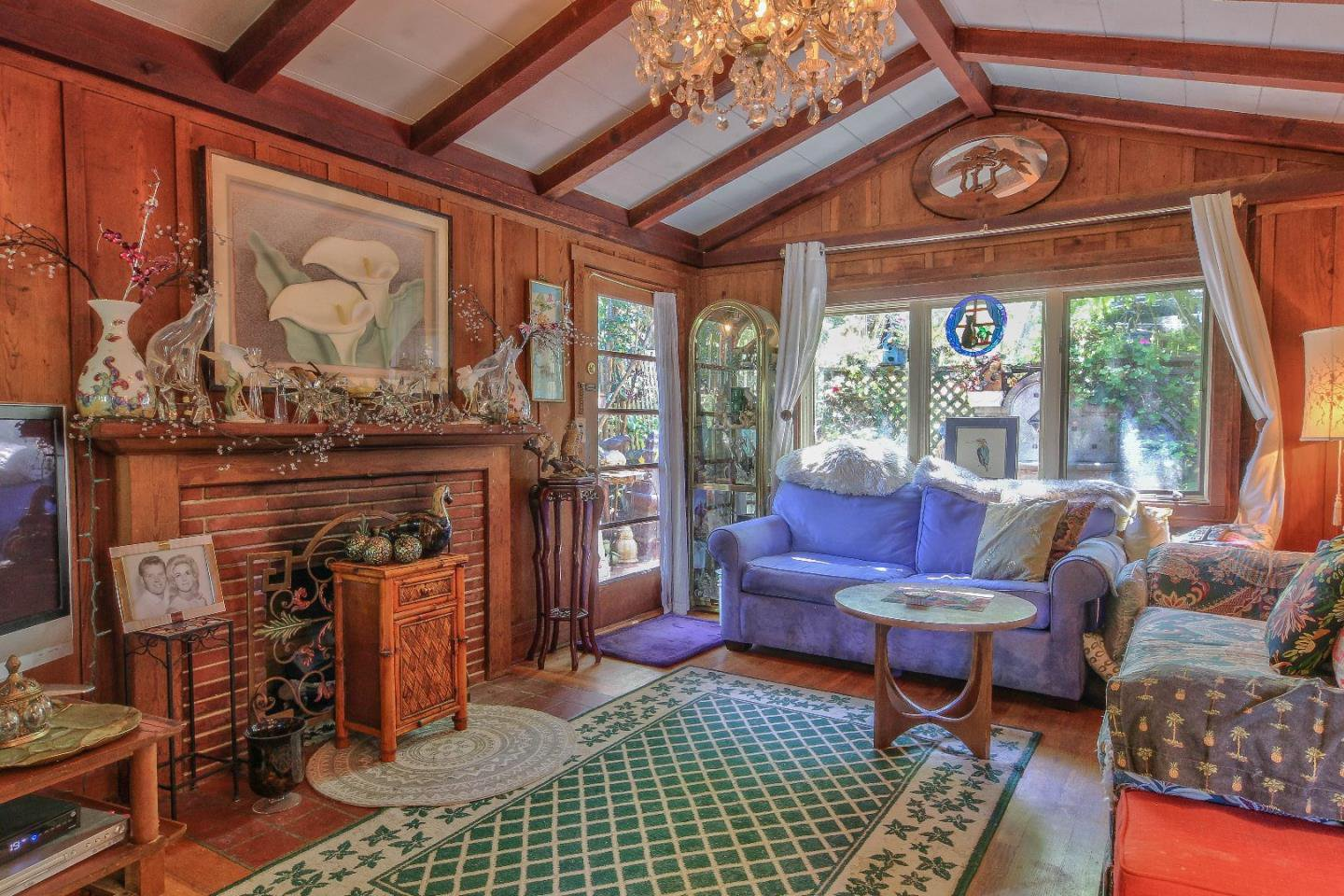 Carmel Ca cottage for sale- living room