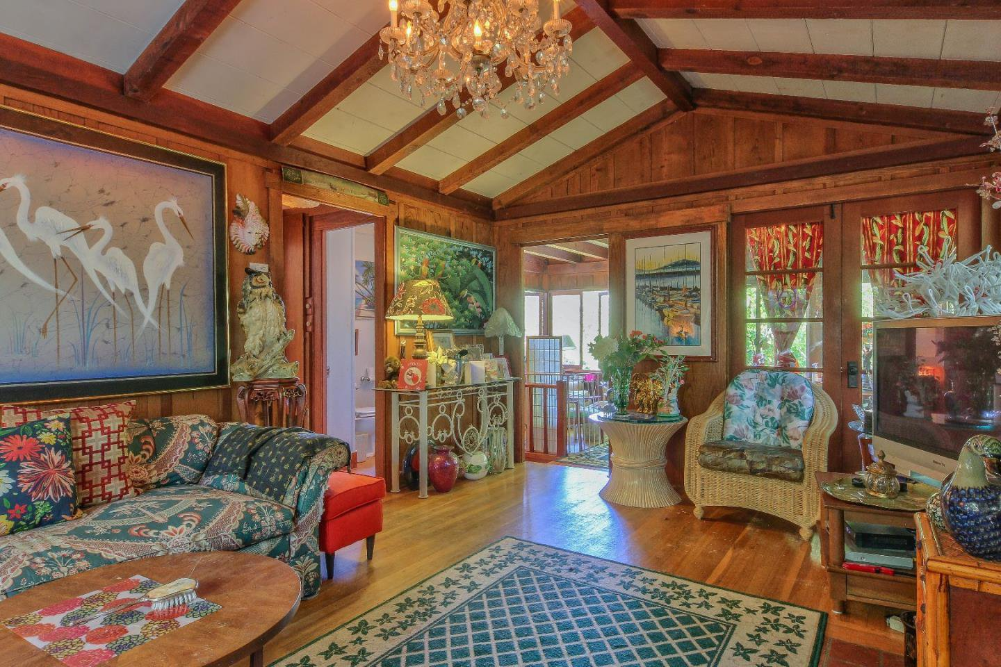 Carmel CA cottage for sale - living room