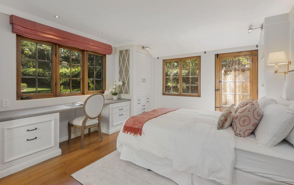 One of 3 bedrooms in Jeff Bridges home for sale in Montecito Ca