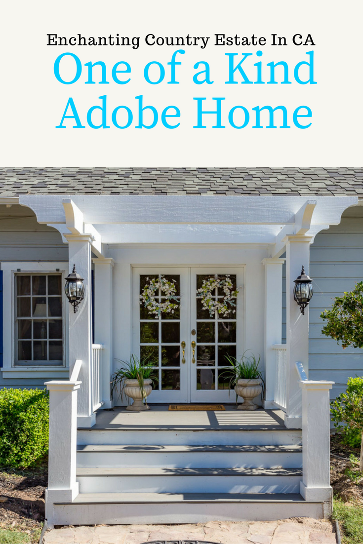 One of a Kind Country Estate Adobe Home for sale in Valley Center CA is an enchanting home with a guest cottage and delightful water tower that has a summer kitchen.