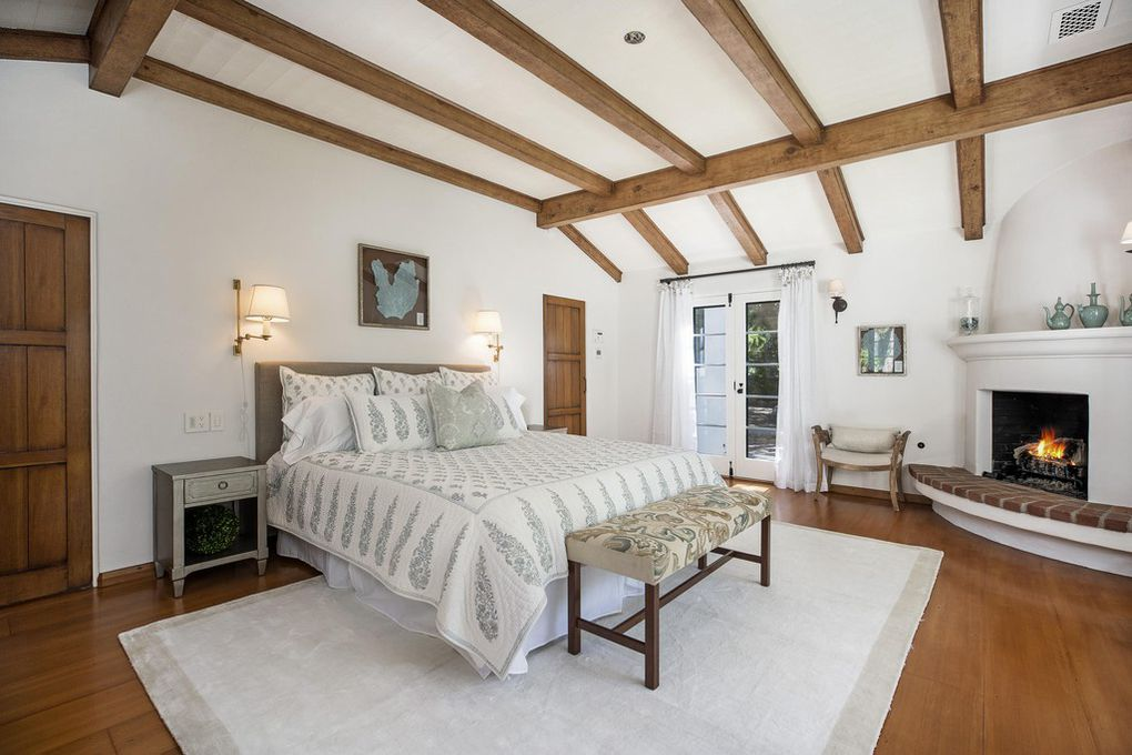 One of the 3 bedrooms in Jeff Bridges house for sale in Montecito Ca