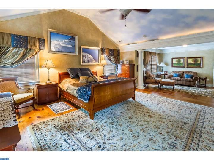 One of the seven bedrooms inside Historic home Tabula Rasa for sale in New Jersey
