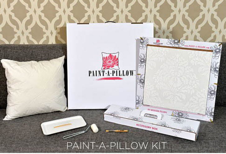 Paint A Pillow Kit from Cutting Edge Stencils comes with everything you need
