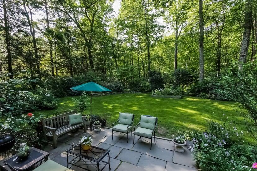 Beautiful Patio and Wooded Backyard