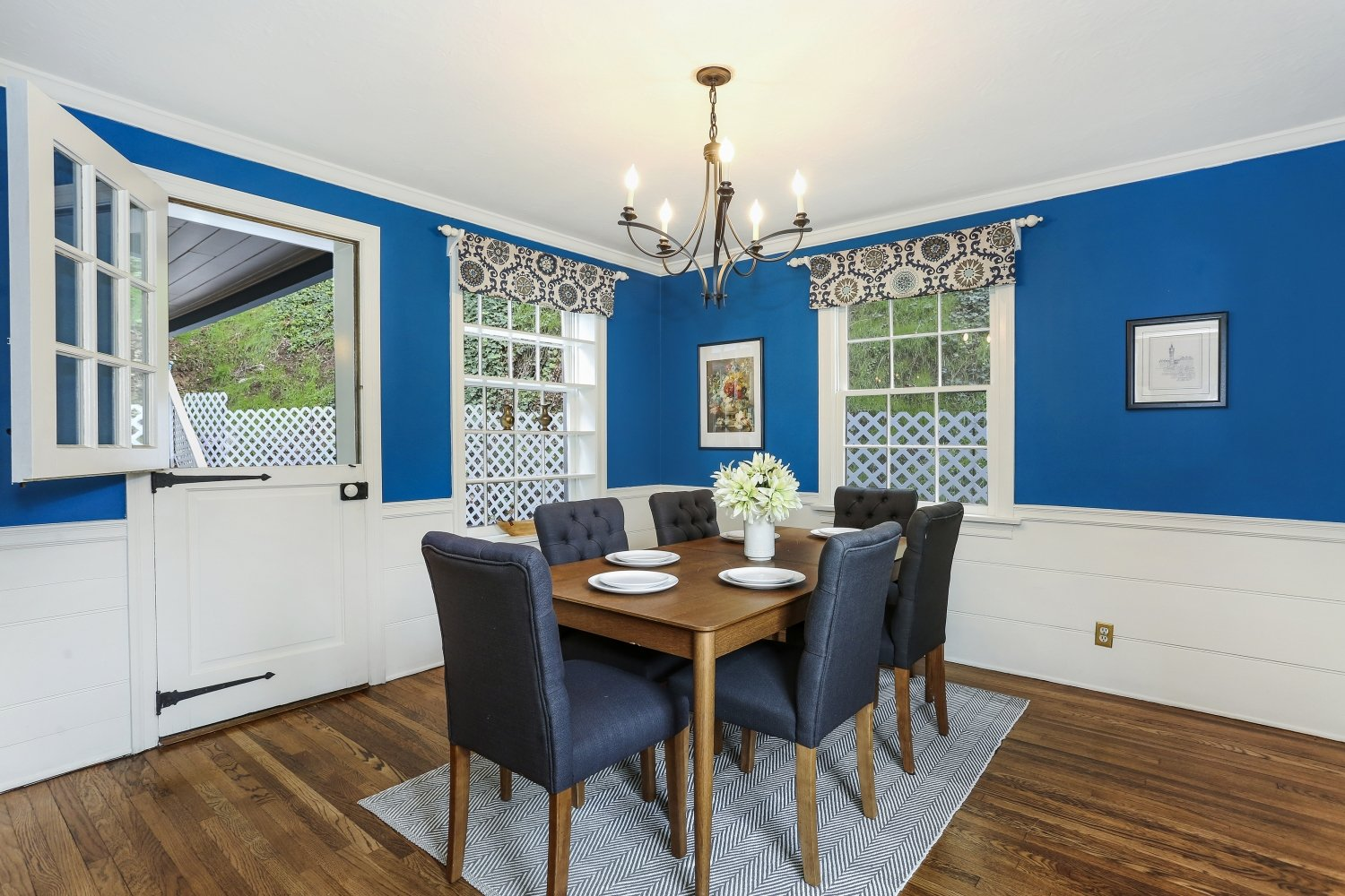 Pennsylvania Dutch Cottage Gerard Colford for sale in Glendale CA - Dining Room with Dutch Door