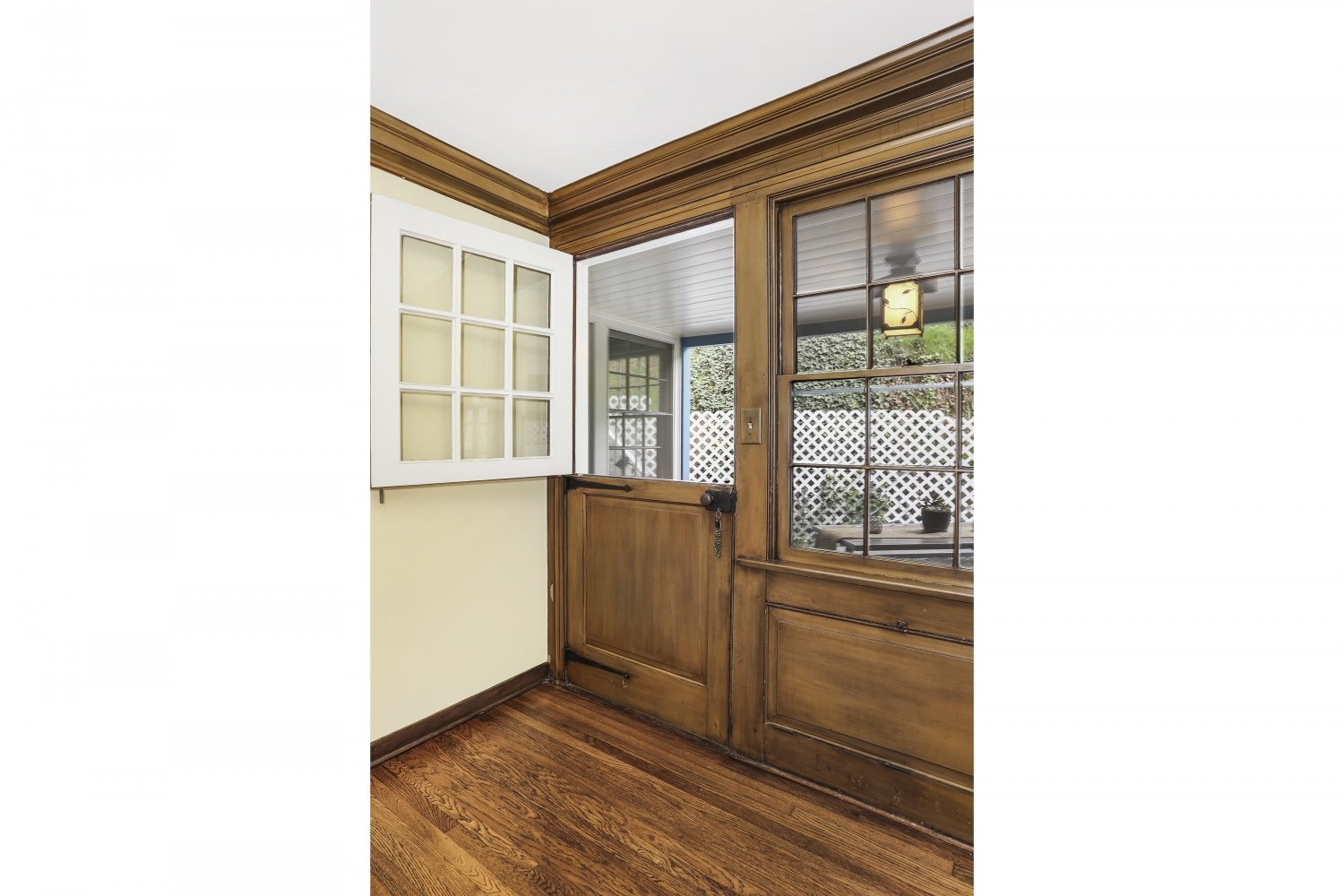 Pennsylvania Dutch Cottage Gerard Colford for sale in Glendale CA - Living Room Dutch Door