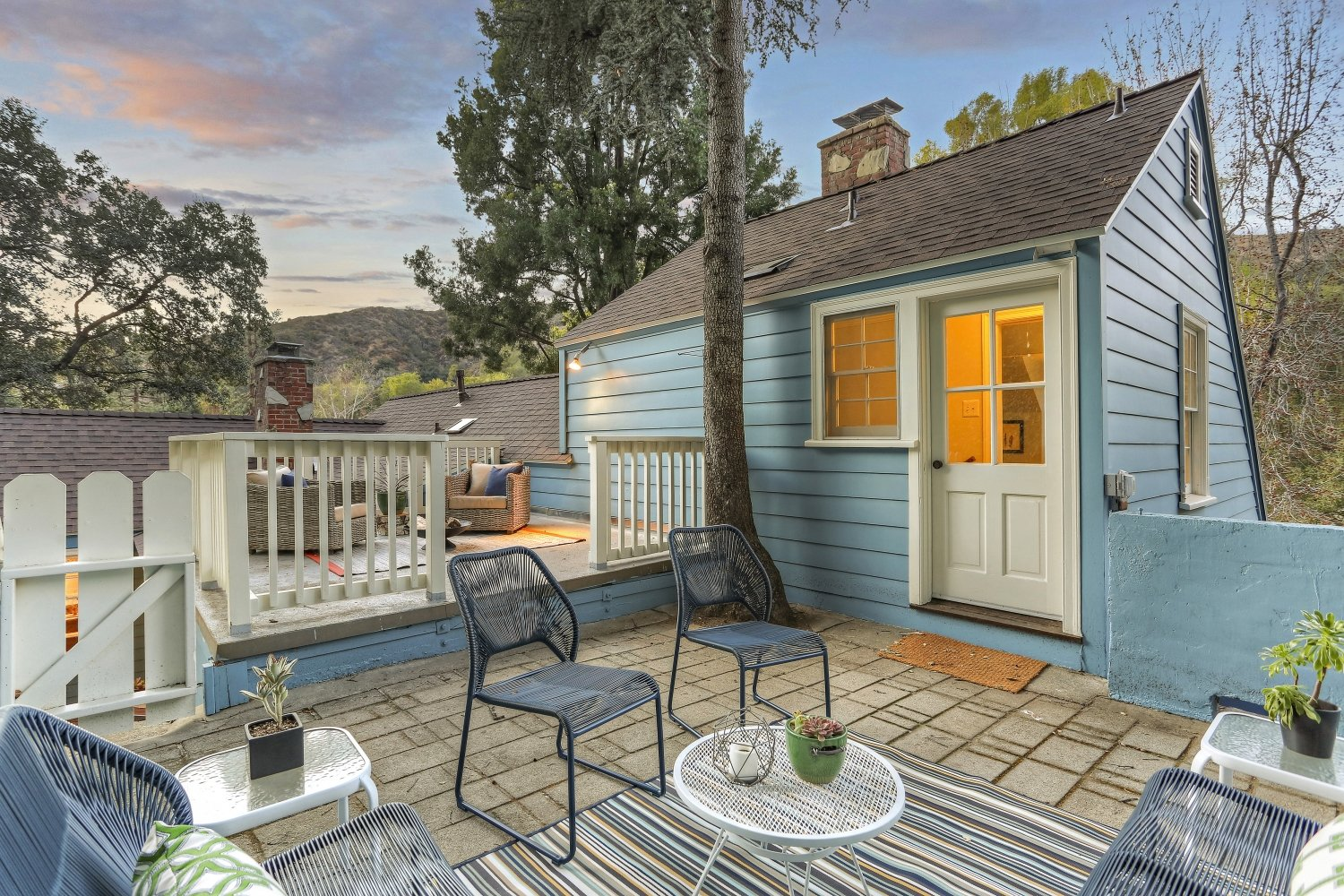Dutch Cottage for sale. 2310 E Chevy Chase Dr. Glendale CA - Upper two-level patio