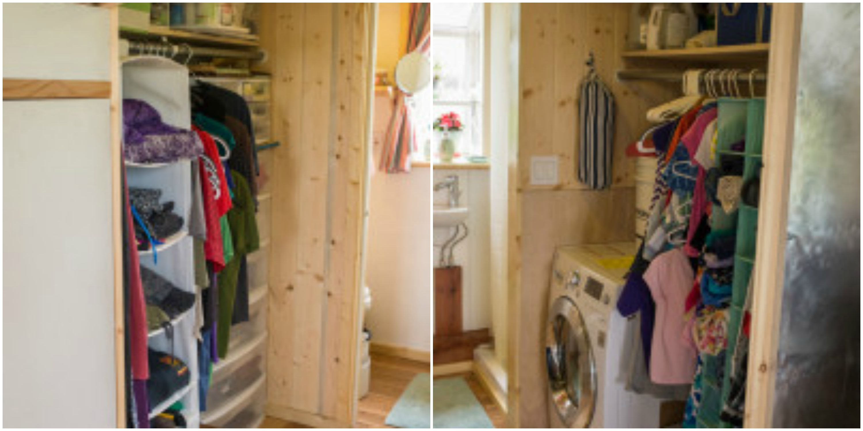 Pequod Tiny House closet and laundry area