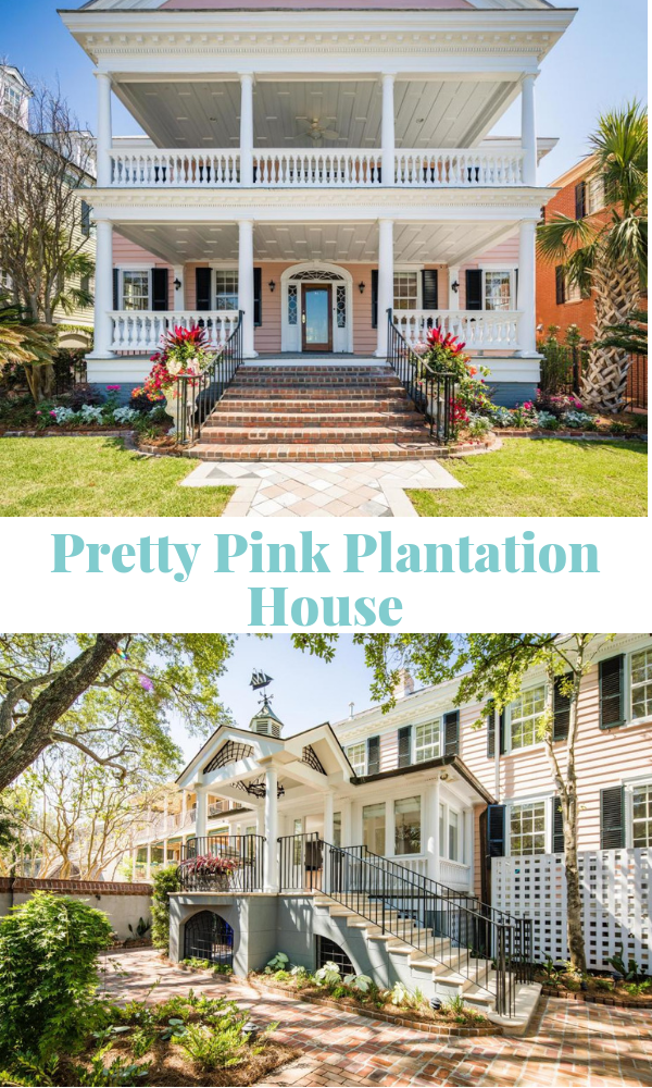 Pretty Pink Plantation House in Charleston SC for sale