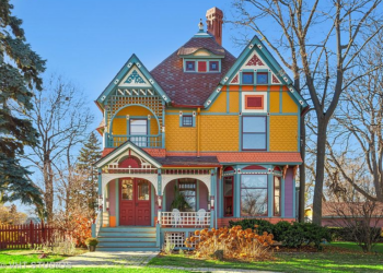 Queen Anne painted lady on the market in Wheaton Illinois