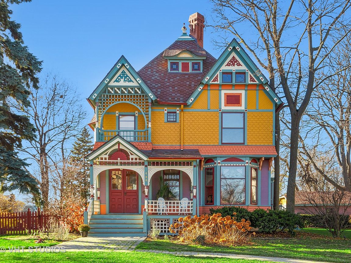 Stunning Colorful Queen Anne Painted Lady on the market in Wheaton IL
