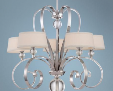 Quoizel Uptown Madison Manor 5-Light Silver Chandelier - Lamps Plus for $919.99