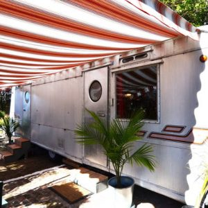 Retro Retreat travel trailer to rent in Pasadena CA