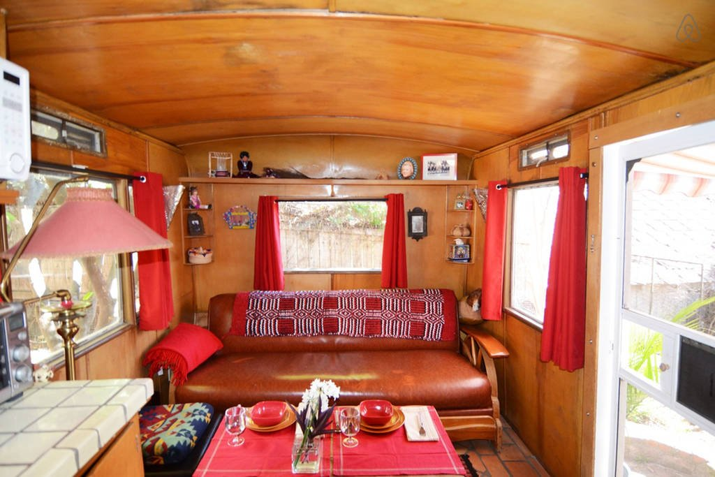 Retro Retreat is a travel trailer in Altenda CA to rent.