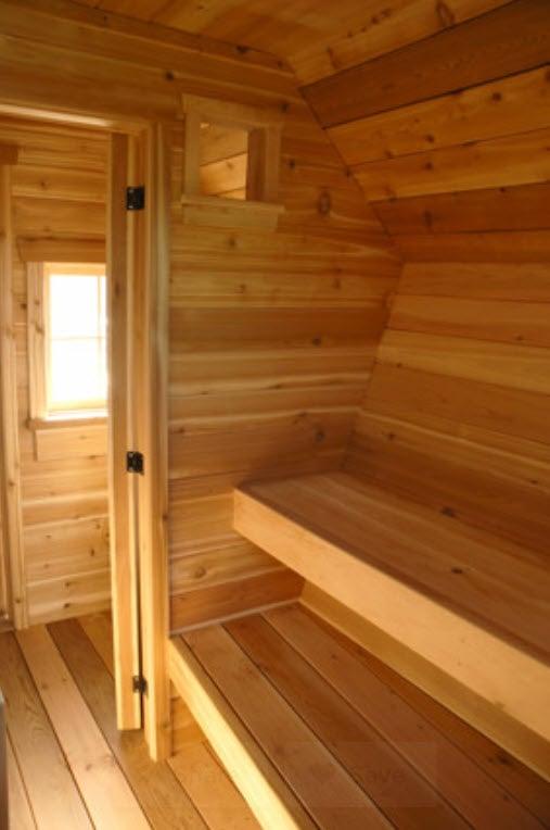 Sauna - The Rustic Way via Houzz